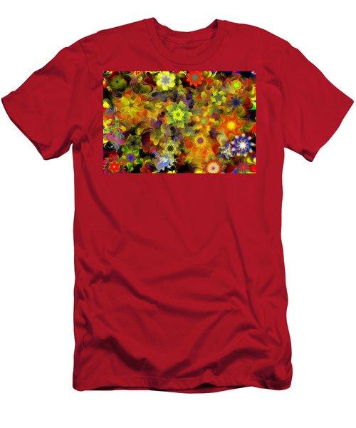 Fractal Floral Study 10-27-09 Men's T-Shirt (Slim Fit) by David Lane