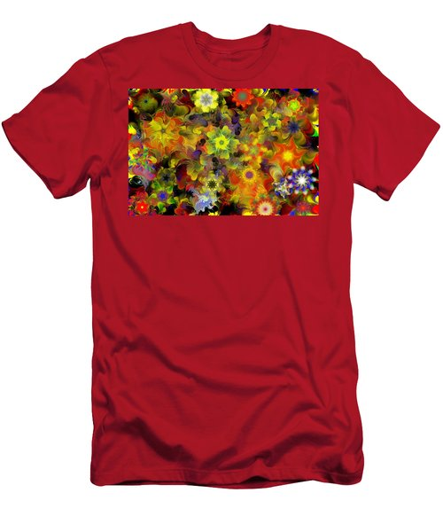 Fractal Floral Study 10-27-09 Men's T-Shirt (Athletic Fit)
