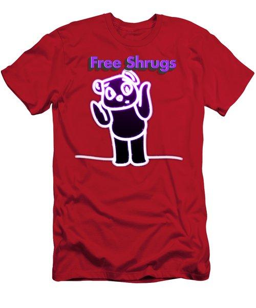 Free Shrugs  Men's T-Shirt (Athletic Fit)