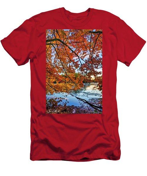 French Creek 15-110 Men's T-Shirt (Slim Fit) by Scott McAllister