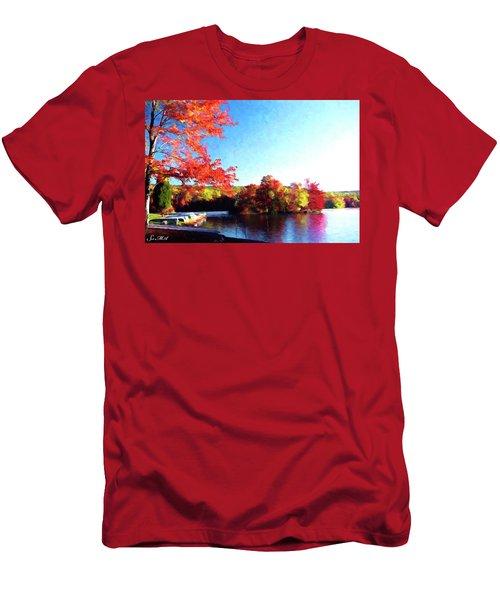 French Creek Fall 020 Men's T-Shirt (Slim Fit) by Scott McAllister