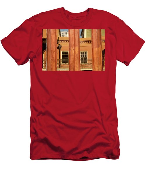 Men's T-Shirt (Athletic Fit) featuring the photograph French Quarter Reflection by KG Thienemann