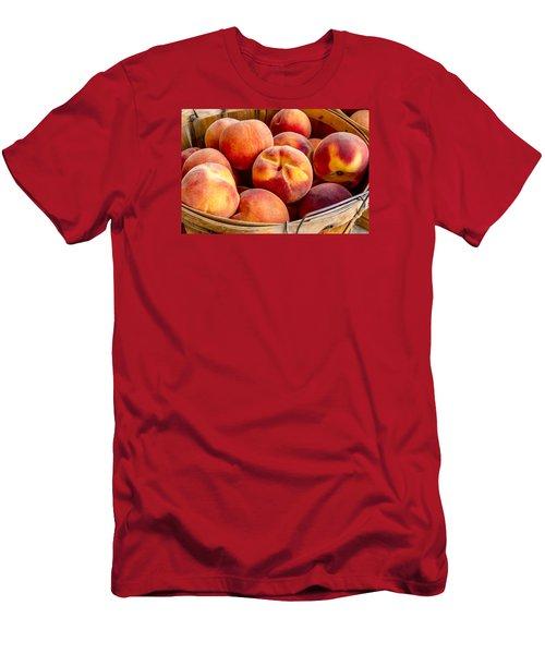 Fresh Peaches Men's T-Shirt (Slim Fit) by Teri Virbickis