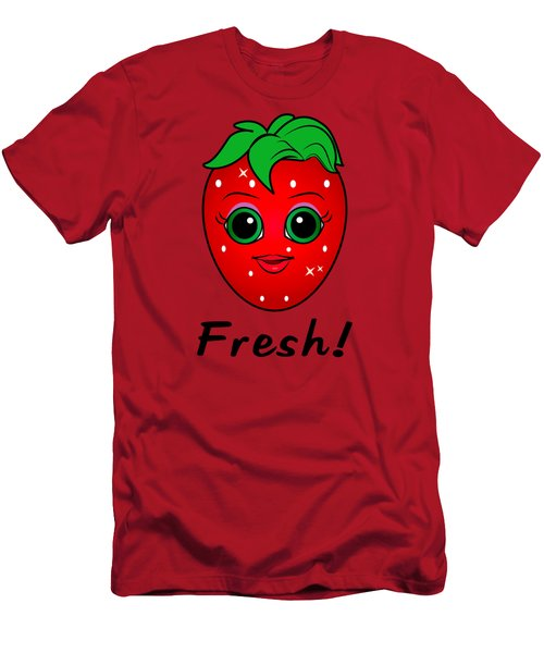 Fresh Strawberry Men's T-Shirt (Slim Fit) by A