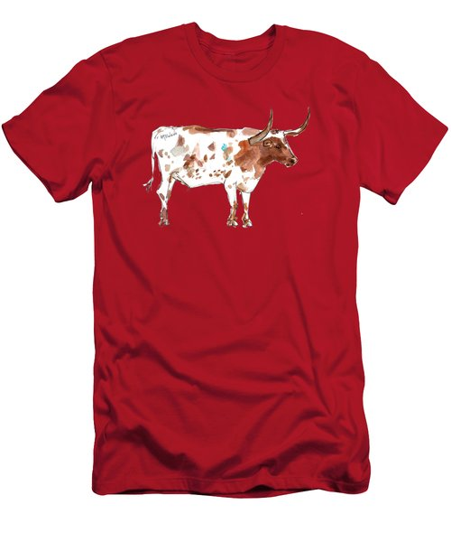 Friesien A Texas Longhorn Lh035 Men's T-Shirt (Athletic Fit)