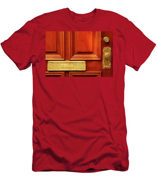 Men's T-Shirt (Athletic Fit) featuring the photograph Front Door French Quarter by KG Thienemann