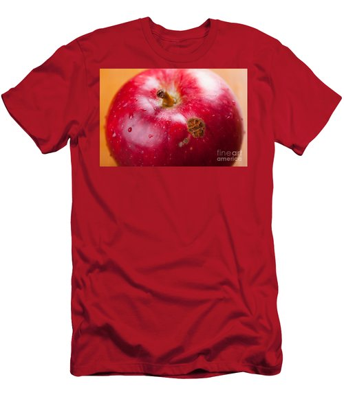 Fruit Disease Apple Scab Lesions On Red Peel  Men's T-Shirt (Athletic Fit)