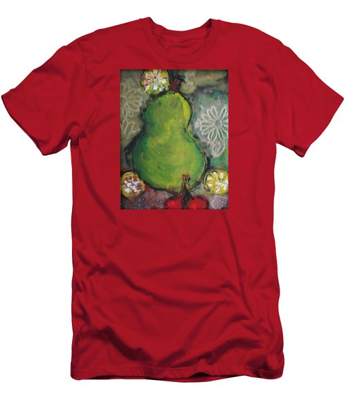 Fruits And Flowers Men's T-Shirt (Athletic Fit)