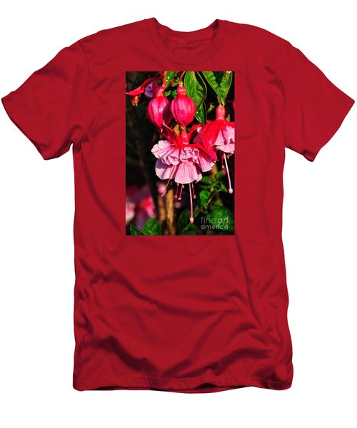 Fuchsias With Droplets Men's T-Shirt (Athletic Fit)