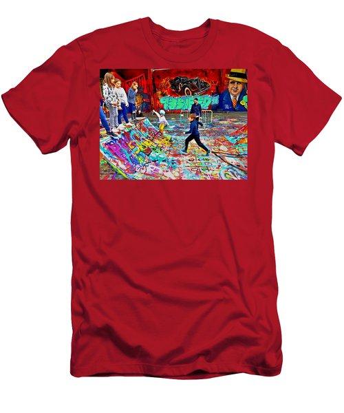 Fun In Skating Graffiti Heaven  Men's T-Shirt (Athletic Fit)