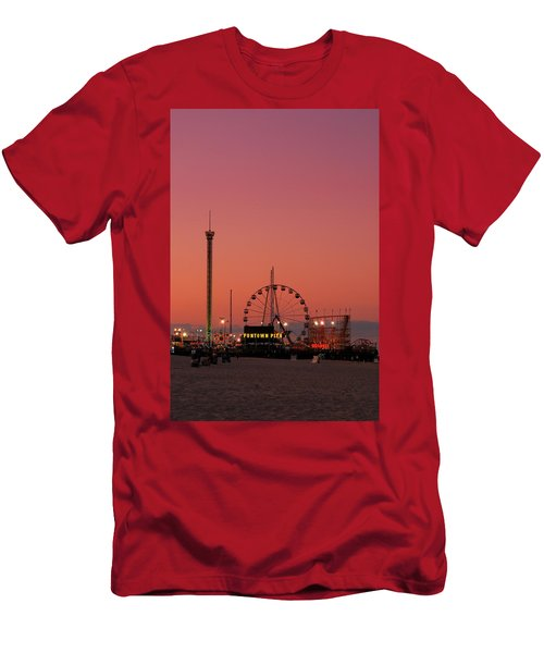 Funtown Pier At Sunset II - Jersey Shore Men's T-Shirt (Athletic Fit)