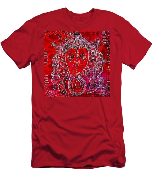 Men's T-Shirt (Slim Fit) featuring the painting Ganesha by Julie Hoyle