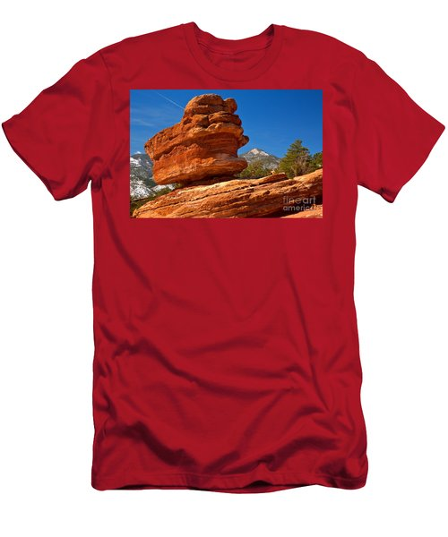 Men's T-Shirt (Slim Fit) featuring the photograph Garden Of The Gods Balanced Rock by Adam Jewell