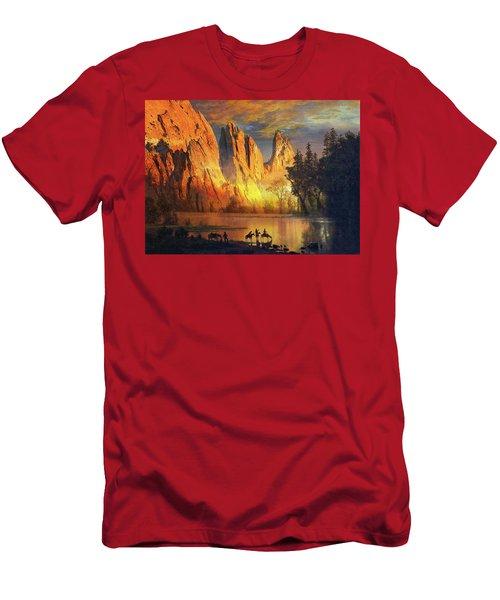 Garden Of The Gods Majesty At Sunset Men's T-Shirt (Slim Fit) by John Hoffman