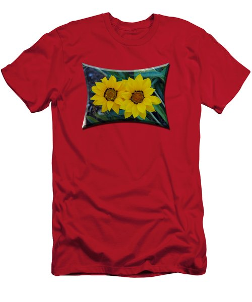 Gazania Rigens - Treasure Flower T-shirt Men's T-Shirt (Slim Fit) by Isam Awad