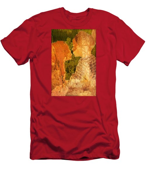 Gentle Sweet Kiss Men's T-Shirt (Slim Fit) by Andrea Barbieri