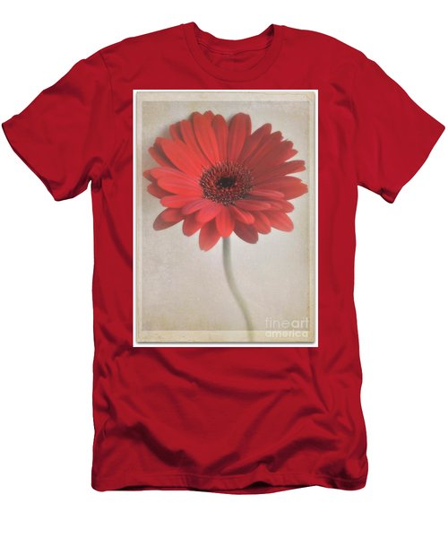 Men's T-Shirt (Slim Fit) featuring the photograph Gerbera Daisy by Lyn Randle