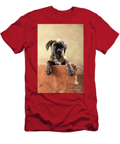 German Boxer Dog Puppy Men's T-Shirt (Athletic Fit)