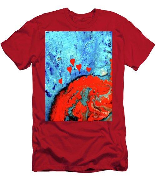 Germinating Love Men's T-Shirt (Slim Fit) by Saribelle Rodriguez