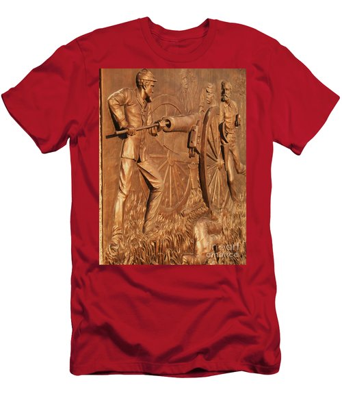 Gettysburg Bronze Relief Men's T-Shirt (Athletic Fit)