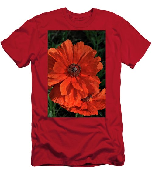 Giant Mountain Poppy Men's T-Shirt (Athletic Fit)