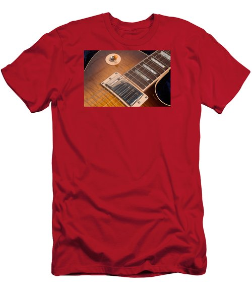 Gibson Les Paul Guitar By Gene Martin Men's T-Shirt (Athletic Fit)