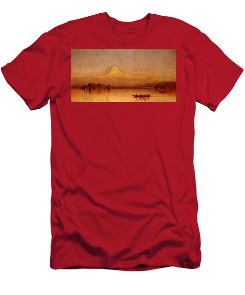 Gifford Sanford Robinson Mount Rainier Bay Of Tacoma Men's T-Shirt (Athletic Fit)