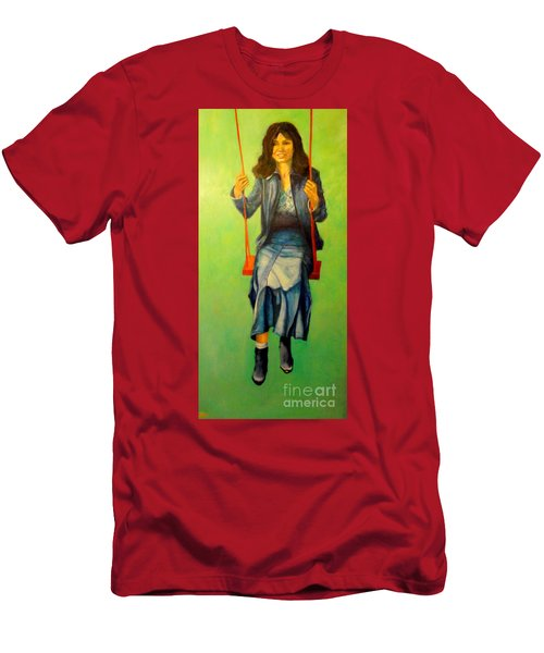 Girl On The Swing  80x160 Cm Men's T-Shirt (Athletic Fit)