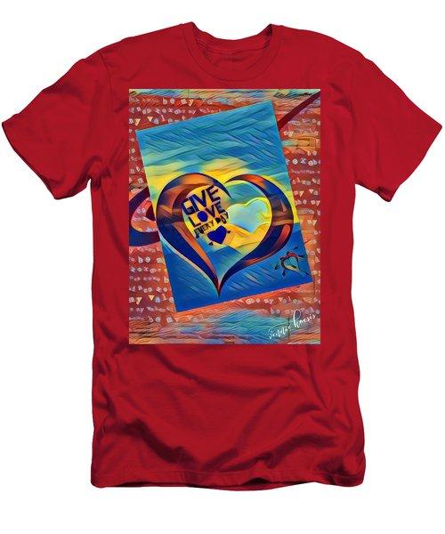 Give Love Men's T-Shirt (Slim Fit) by Vennie Kocsis