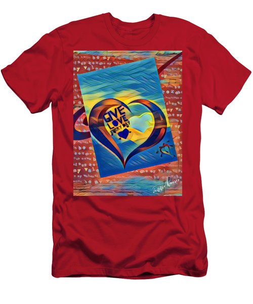 Give Love Men's T-Shirt (Athletic Fit)
