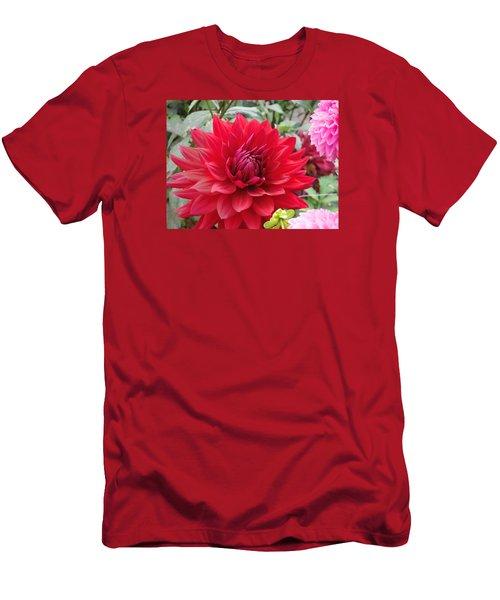 Glory Crimson Dahlia  Men's T-Shirt (Athletic Fit)