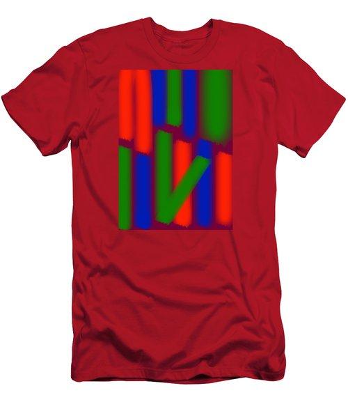 Men's T-Shirt (Slim Fit) featuring the digital art Glow Sticks by Karen Nicholson