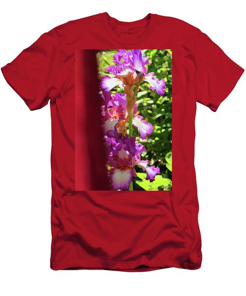 Glowing Iris Tower - Behind The Red Curtain Men's T-Shirt (Athletic Fit)