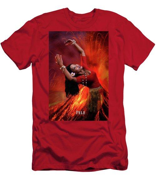 Goddess Pele Men's T-Shirt (Slim Fit) by David Clanton