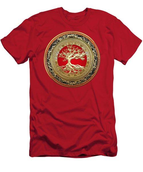 Golden Celtic Tree Of Life  Men's T-Shirt (Athletic Fit)