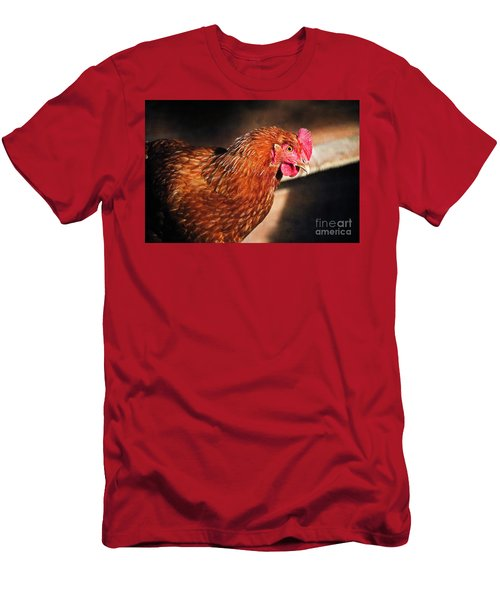 Men's T-Shirt (Slim Fit) featuring the photograph Golden Comet by Mary Machare