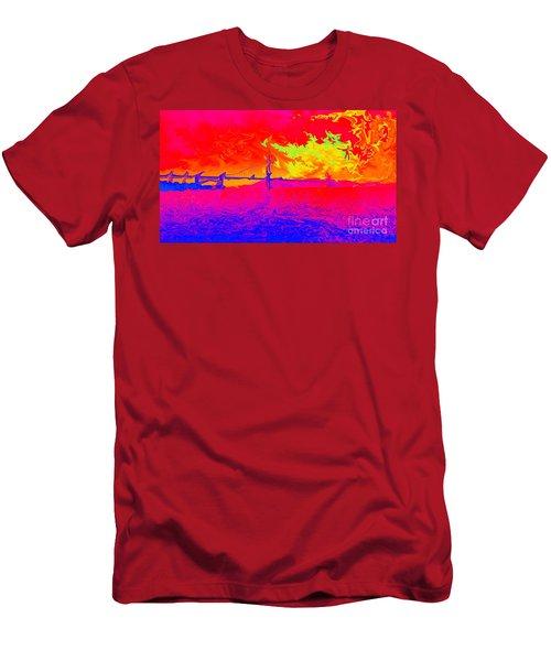Golden Gate Mod Pop Men's T-Shirt (Athletic Fit)