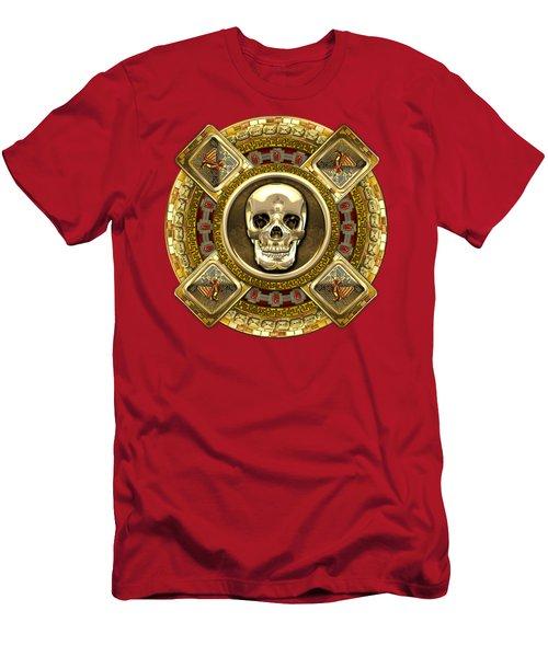 Golden Mictlantecuhtli - Aztec God Of Death Men's T-Shirt (Athletic Fit)