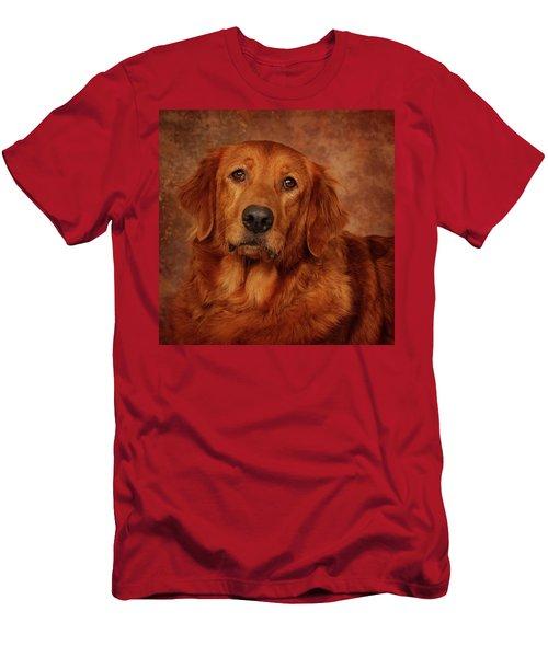 Golden Retriever Men's T-Shirt (Slim Fit) by Greg Mimbs