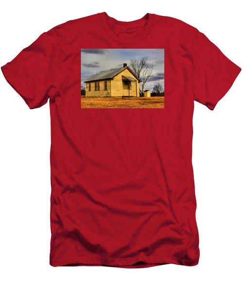 Men's T-Shirt (Slim Fit) featuring the digital art Golden Rule Days by Sharon Batdorf