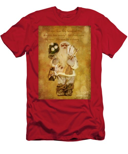 Golden Santa Card 2015 Men's T-Shirt (Athletic Fit)