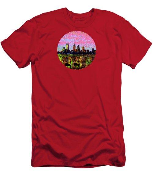 Golden Skyline Perth Men's T-Shirt (Slim Fit) by Alan Hogan