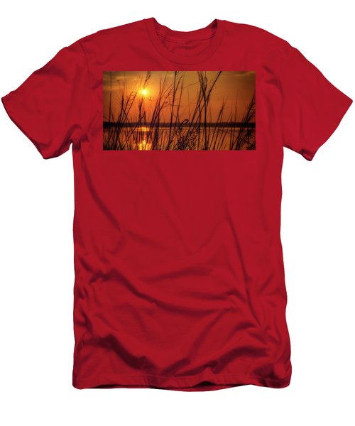 Golden Sunset At The Lake Men's T-Shirt (Slim Fit) by John Williams