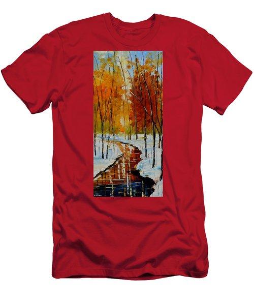 Golden Winter Men's T-Shirt (Athletic Fit)