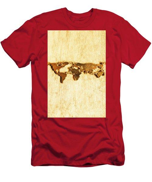 Golden World Continents Men's T-Shirt (Athletic Fit)