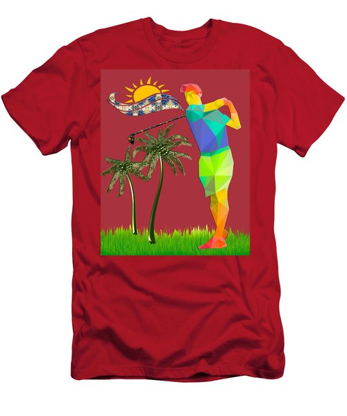 Golf Player Men's T-Shirt (Athletic Fit)