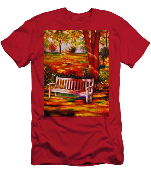 Men's T-Shirt (Slim Fit) featuring the painting The Good Days by Emery Franklin