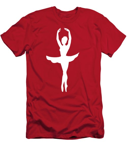 Graceful Silhouette Of Dancing Ballerina Men's T-Shirt (Athletic Fit)