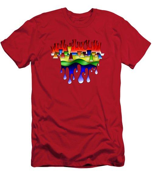 Grafenonci V4 - Digital Abstract Men's T-Shirt (Athletic Fit)