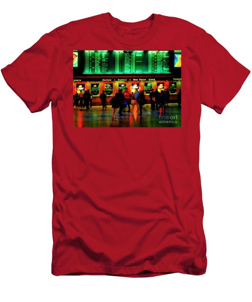 Men's T-Shirt (Athletic Fit) featuring the photograph Grand Central Station Nyc by Tom Jelen